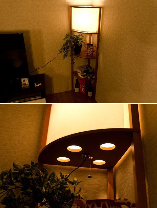 ルームライト LED ライト 収納ラック 飾り棚 幅34cm 和風 インテリア照明 LED ライト - aimcube画像2
