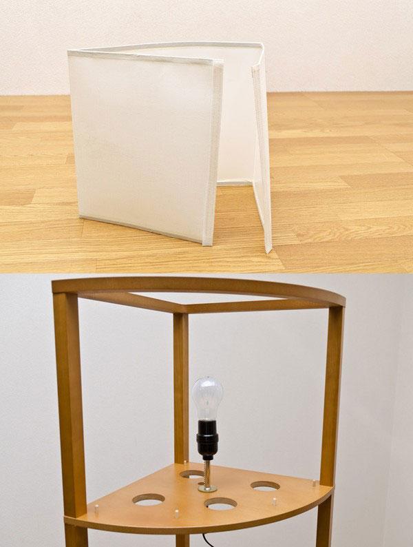 ルームライト LED ライト 収納ラック 飾り棚 幅34cm 和風 インテリア照明 LED ライト - aimcube画像4