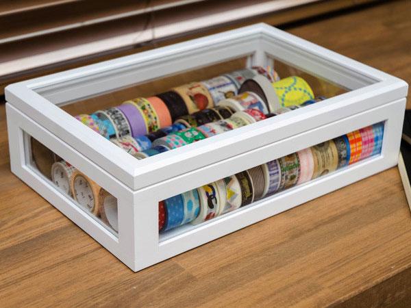 ショーケース ディスプレー 卓上ケース 2色展開 時計 万年筆 マスキングテープ 収納 - aimcube画像2