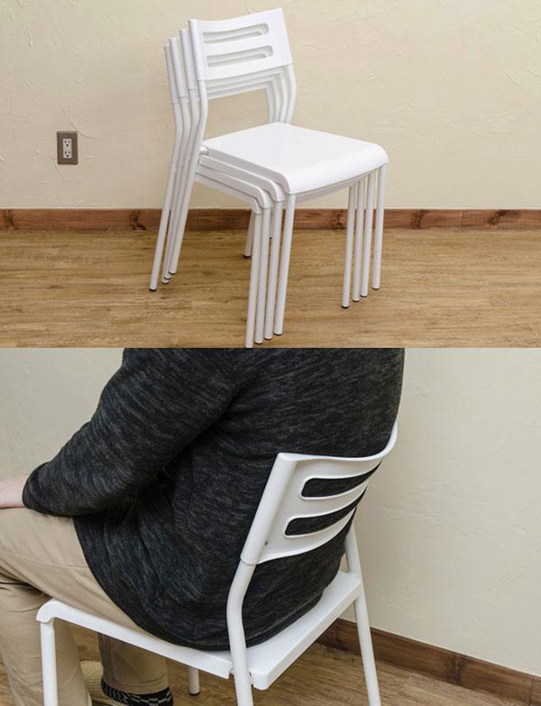 ダイニングセット 4人用 ガラス天板 ダイニングテーブル 椅子4脚 5mm厚強化ガラス天板 - エイムキューブ画像3