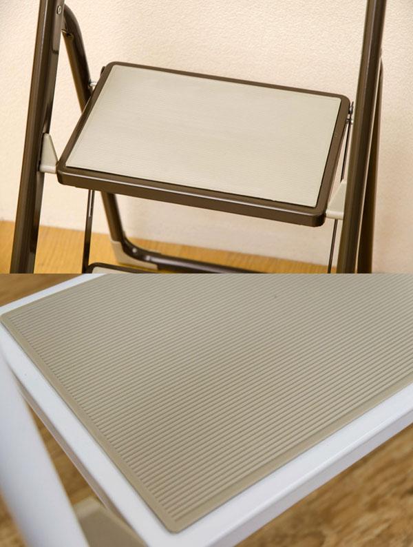 踏み台 3段 折り畳み 幅42cm ステップ スチール製 脚立 スチール製 ステップ コンパクト - エイムキューブ画像3
