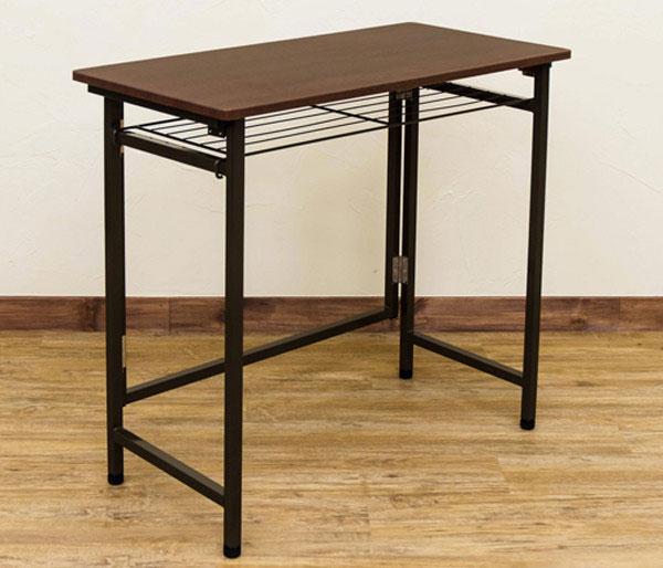 折り畳みテーブル 補助デスク ワークデスク 棚付デスク 作業台 作業用テーブル - aimcube画像2
