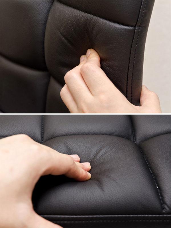 ダイニングチェア 昇降式 バーチェア  合成 レザー 座面 回転 カウンター椅子 昇降式バーチェア - エイムキューブ画像3