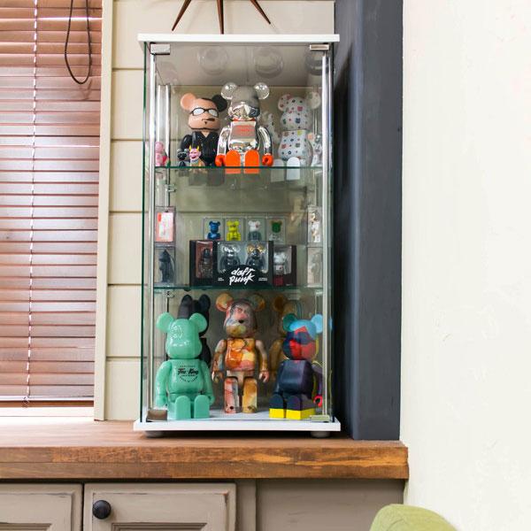 キャビネット 飾り棚 収納家具 全面ガラス仕様 コレクションボックス 3色展開 - aimcube画像2