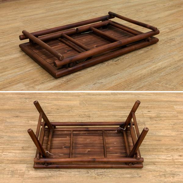 テーブル 幅120cm 折りたたみ脚 折り畳みテーブル 食卓 突板天板テーブル 一人暮らし用座卓 - エイムキューブ画像3