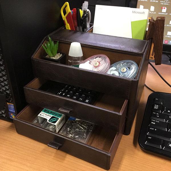 マルチオーガナイザー インテリア雑貨 メガネ入れ 3色展開 デスクオーガナイザー 整理整頓グッズ - aimcube画像2