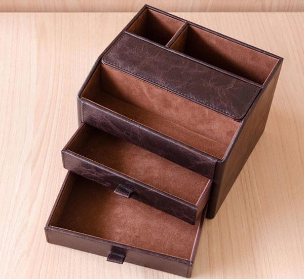 卓上収納 整理整頓 ペン立て 小物入れ リモコンケース 収納ボックス 完成品 小物収納 - エイムキューブ画像3