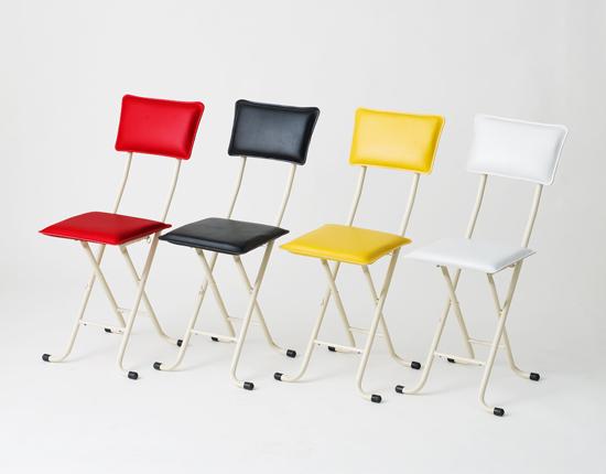 カラフルチェアー 補助いす 折り畳みチェア 台所椅子 簡易チェアー - aimcube画像2