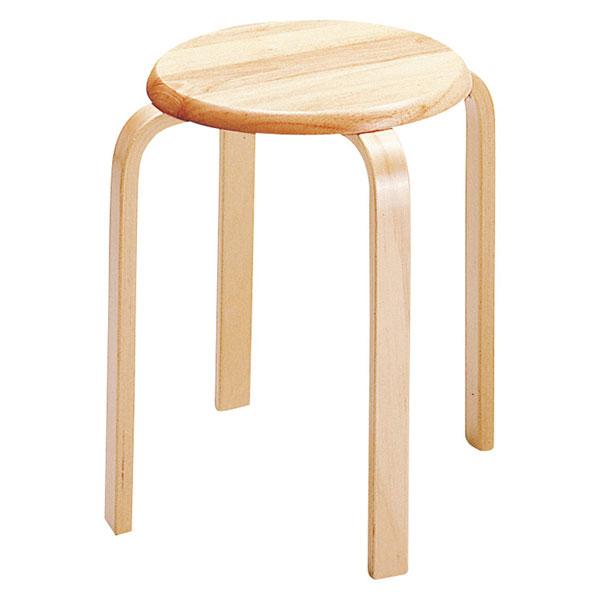木製スツール キッチンチェア 丸型スツール 作業椅子 キッチン椅子 ダイニングチェア - エイムキューブ画像3