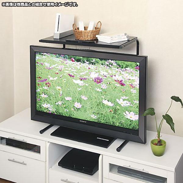 薄型テレビ用ラック オープンラック 高さ調整可能 リモコン置き棚 42インチ対応 - aimcube画像2